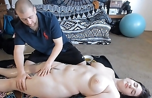 Oiled In Anal Sex After Massage With Teen PAWG