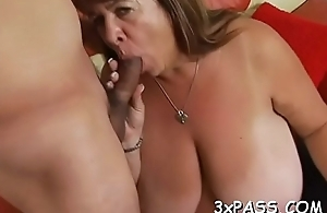 Playful fat gal seduces pretty fellow to bang her very well