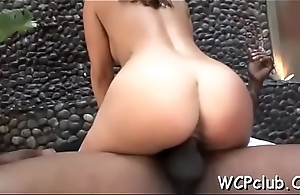 Stunning honey with great forms be worthwhile for body drilled in asshole