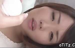 Asian chick with lovely marangos toys and plays with her hairy twat