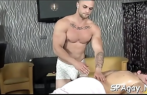 Carnal and gratifying gay massage session