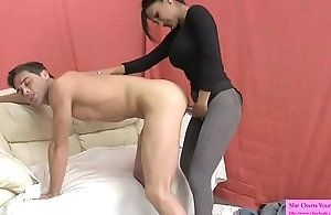 Hot Indian Sex Therapist Fucks Guy with Strapon added to Titty Fucks him