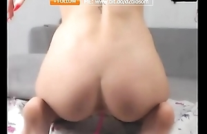 showing off asshole and alluring body
