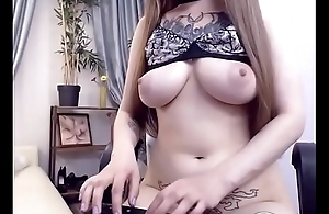 Sexy girl lived stripped tease with her sexy body