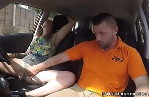 Tattooed driving student bangs instructor