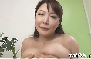 Slutty mom relative to fat love button and dildo