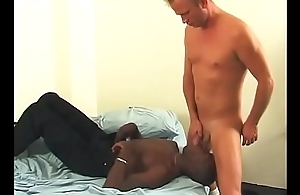 White guy with massive long dick fucks horny black bottom