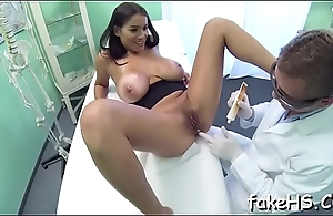 Horny doctor'_s cunt gets nailed