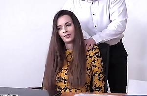 Victoria DPed in the office