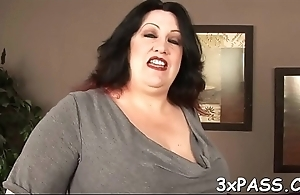 Busty bbw floozy screwed in all of say no to holes by chocolate dick