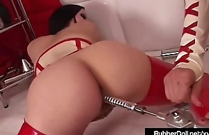 Latex Babe Rubber Doll Abuses Succubus With Dental Sex Tools
