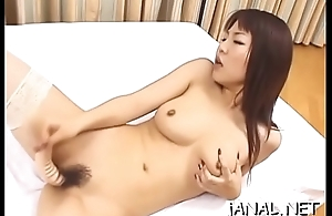 Adorable juvenile japan cutie receives monster cock in anal mode