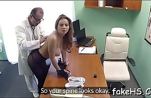 Glamorous doctor gets drilled by an agile fuckmate